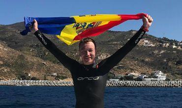 Un înotător din Moldova a traversat înot strâmtoarea Gibraltar