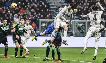 «Ювентус» обыграл «Сассуоло» со счетом 3:0. Один из голов забил Роналду.