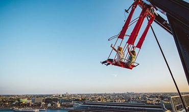 В Амстердаме открыли качели на 100-метровой высоте
