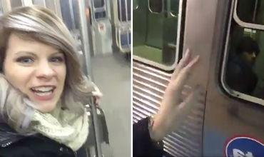 """Девушка прославилась в Twitter благодаря конфузу в """"пустом"""" вагоне метро."""