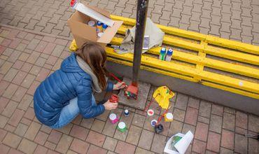 Результат кропотливой работы художников проекта Chisinau is me появился возле лицея Асаки.