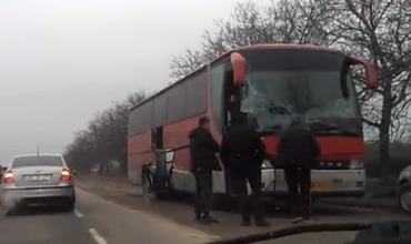 ДТП в Рышканском районе: автобус с 16 пассажирами столкнулся с трактором