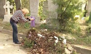 Уборка перед пасхальными праздниками проводится не только в домашних хозяйствах, но и на кладбищах.