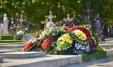 Прощание с бизнесменом прошло сегодня в полдень на кладбище Святого Лазаря (Дойна).