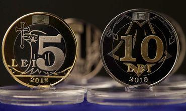 Монеты номиналом в 5 и 10 леев введут в обращение до конца года.
