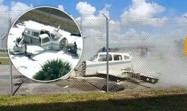 В США разваливающийся самолет едва не сбил человека во время аварийной посадки