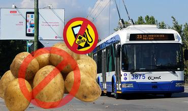 Кишиневцам предлагают пересесть на троллейбусы и не покупать картошку.