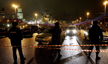 Кадры с места убийства Бориса Немцова.