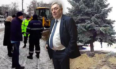 По решению Грозаву елку из центра Рышкановки пересадят на Чеканах.