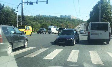 За рулем попавшего в ДТП BMW находился пьяный водитель.
