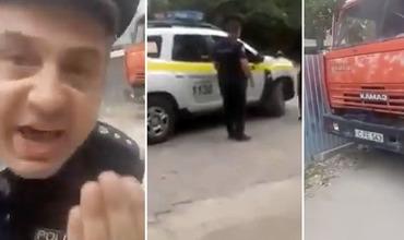 Конфликт полицейского и жительницы Кишинева попал на видео