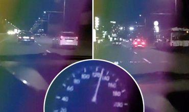 Автоледи в Кишиневе вела прямую трансляцию в Сети на скорости 156 км в час