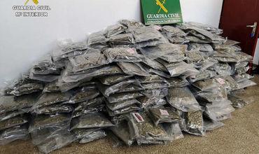 Правоохранительные органы Испании конфисковали рекордную партию марихуаны.