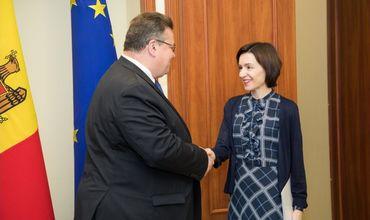 Премьер Молдовы провела встречу с главой МИДа Литвы