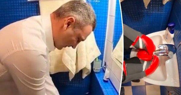 Виталий Кличко помыл руки в боксерских перчатках thumbnail