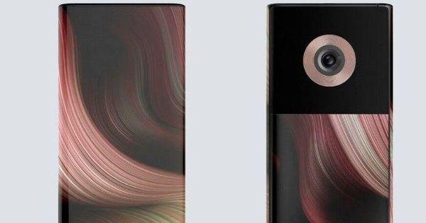 Telefon cu două ecrane și o singură cameră foto cu obiectiv cu zoom thumbnail
