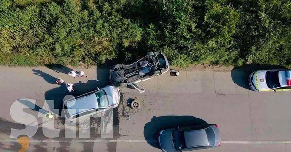 Accident pe traseul Chișinău-Vadul lui Vodă: Un automobil s-a răsturnat thumbnail