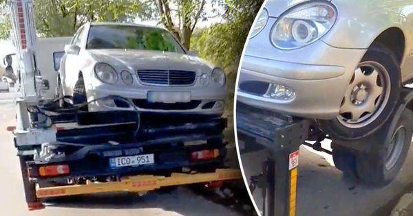 Водитель эвакуатора повредил Mercedes во время погрузки thumbnail