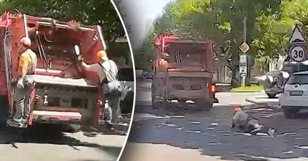 Сотрудник Autosalubritate упал на дорогу во время движения грузовика thumbnail