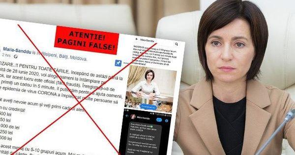 Sandu luptă cu fake-uri: Adversarii politici amăgesc oamenii sărmani thumbnail