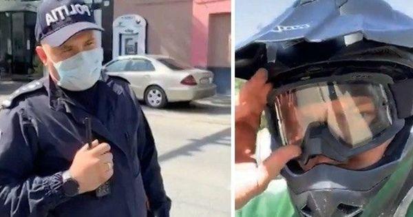 Motociclistul care s-a filmat cum înjura poliţiştii, anunţat în căutare thumbnail