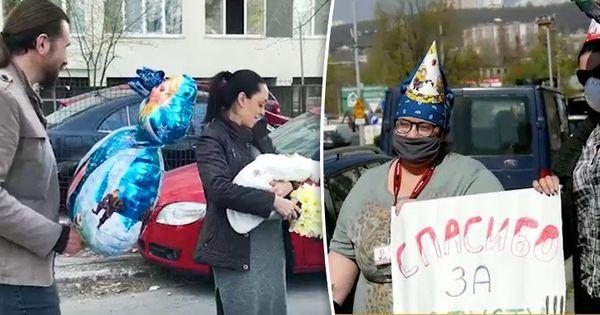 В Кишиневе друзья устроили сюрприз молодой маме с соблюдением всех правил thumbnail