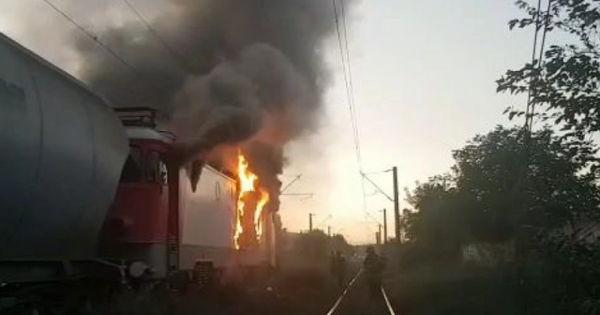 Incendiu la Ungheni: O locomotivă a luat foc thumbnail