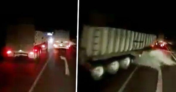 Momentul accidentului exploziv cu cele 3 camioane, filmat la Soroca thumbnail
