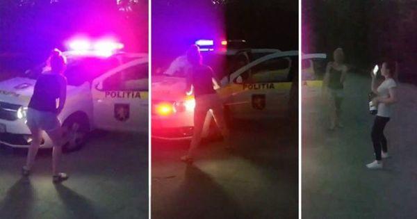 Девушка исполнила зажигательный танец на капоте патрульной машины thumbnail