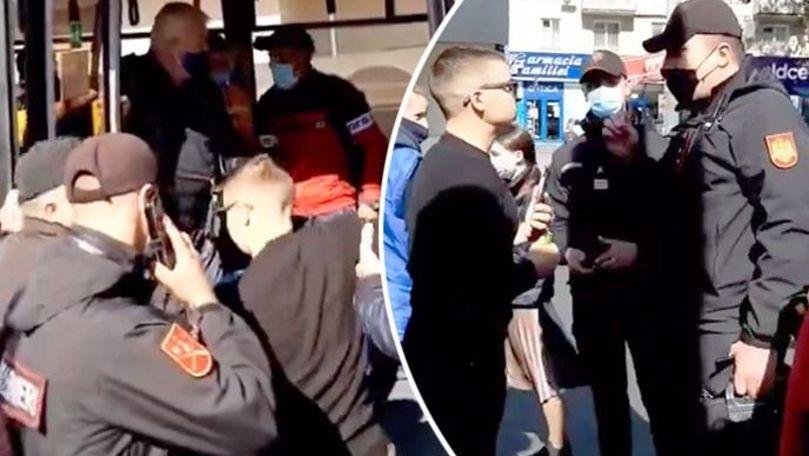Un bărbat refuză să-și pună masca în troleibuz: Să mă p** pe cârpa asta