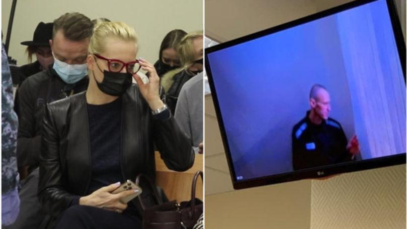 Navalnîi, audiere prin videoconferinţă: Mesajul pentru soţie și Putin
