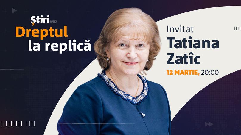 Tatiana Zatîc, invitata emisiunii Dreptul la Replică de la Știri.md