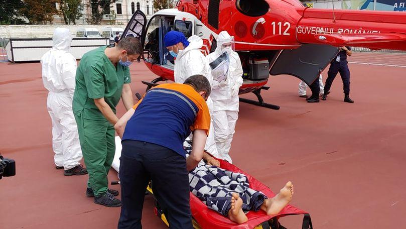 Bărbat de 44 ani din Cahul, dus la Chișinău cu echipajul SMURD din Iași