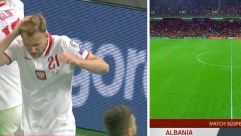 Meciul Albania - Polonia, întrerupt după golul lui Karol Swiderski