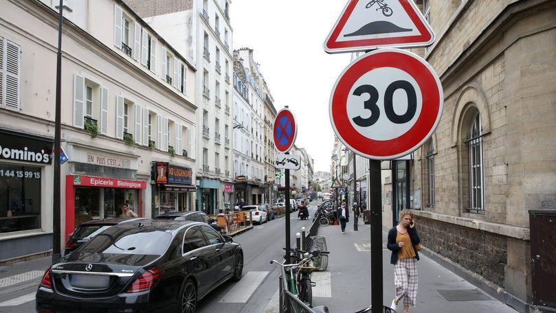 Orașul cu 30 km pe oră: De când Parisul va limita viteza automobilelor