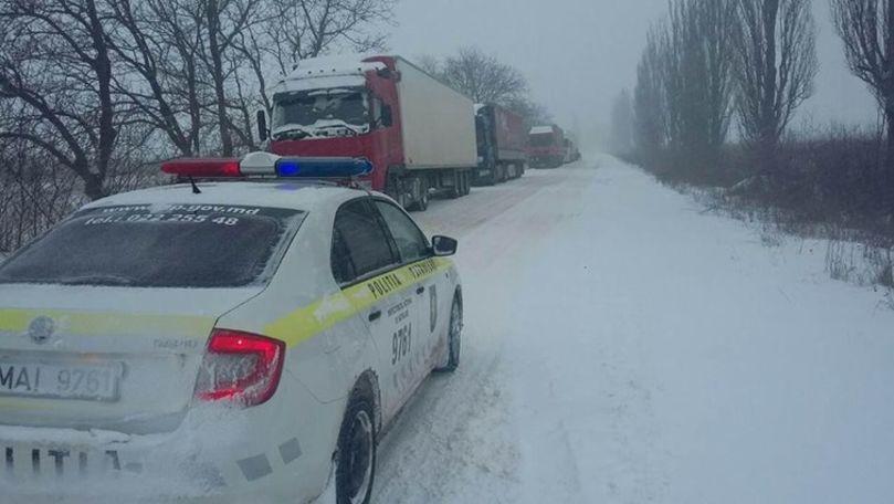 MAI: Circulația camioanelor pe porțiunea Peresecina-Orhei, sistată