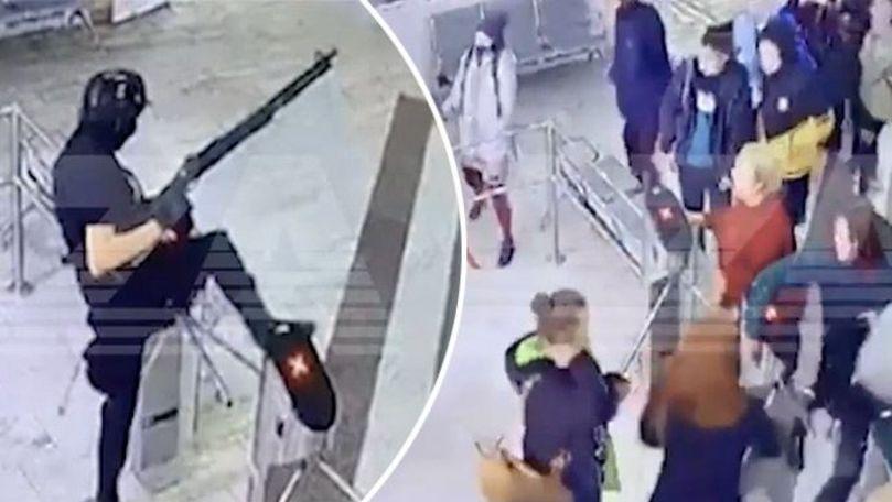 Momentul atacului din Perm, filmat: Individul e viu și tratat la spital