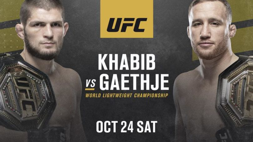 Khabib Nurmagomedov se va lupta cu Justin Gaethje în octombrie
