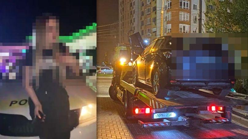 O șoferiță beată criță a lovit două mașini de poliție: Primele imagini