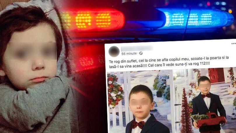 Mesajul cutremurător postat pe Facebook de mama copilului dispărut