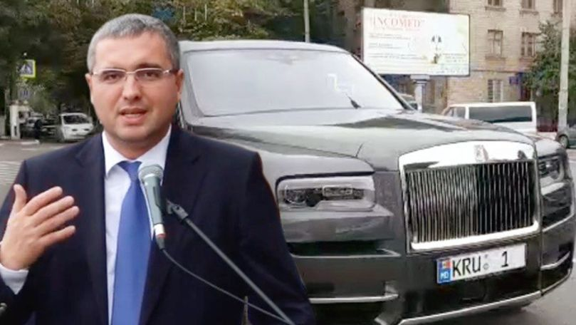 Renato Usatîi a venit la Primăria din Bălți cu noul Rolls-Royce