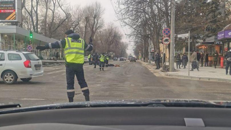 Tânără, spulberată de o mașină în centrul Capitalei: Victima e la spital