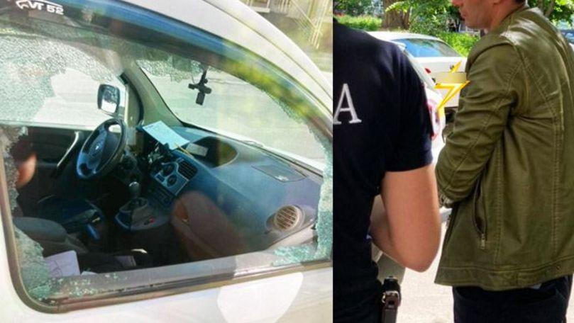Vandaliza mașini în centrul Capitalei: Un bărbat de 37 de ani, reținut