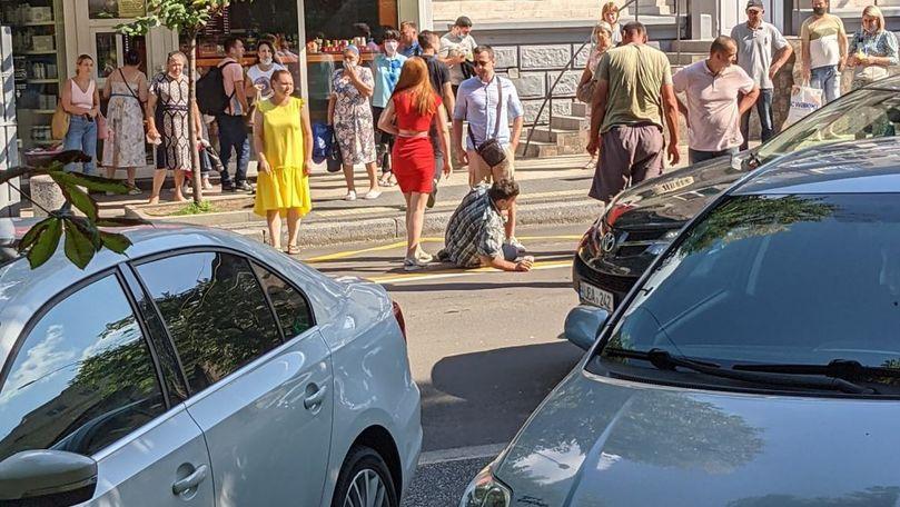 Pieton accidentat în centrul Capitalei: Bărbatul traversa neregulamentar