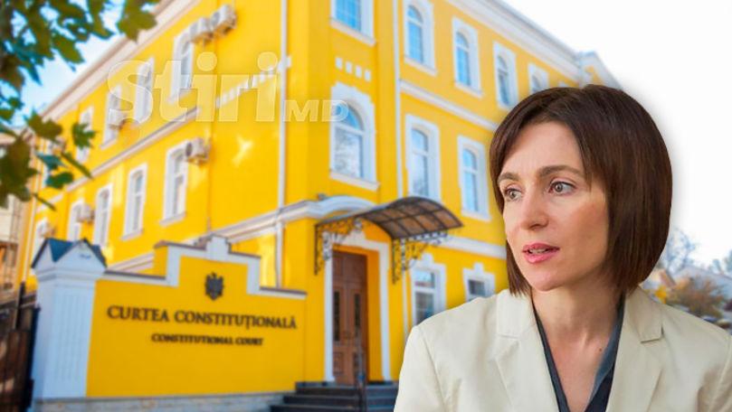 Sandu întreabă Curtea Constituțională dacă poate fi dizolvat Parlamentul