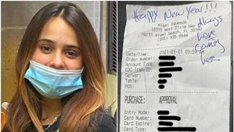 SUA: Bacșiș de peste 2.000 de dolari, lăsat unei chelnerițe
