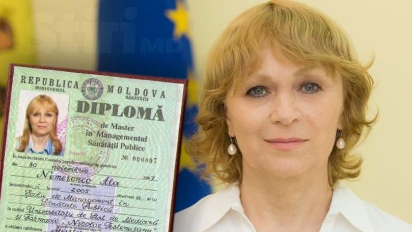 Ala Nemerenco a publicat diploma de master și a explicat cum a obținut-o