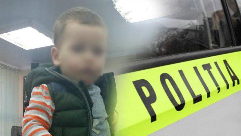Un copil mic a fost găsit fără supraveghere pe o stradă din Capitală