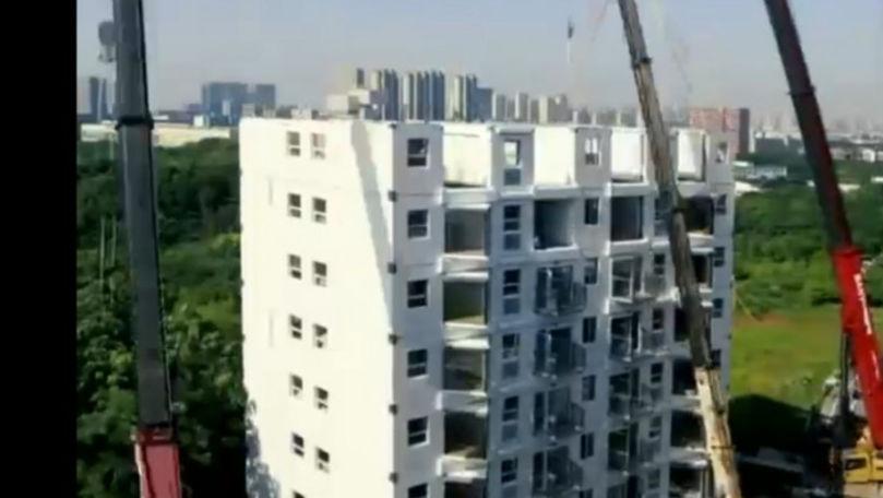 Cum au reușit chinezii să construiască un bloc de 10 etaje în 29 de ore