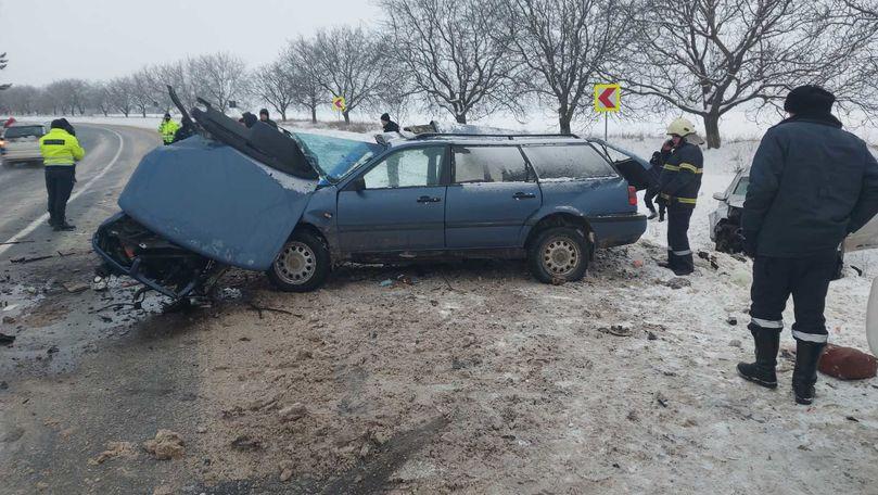 Accident la Râșcani: Sunt 2 morți și 3 răniți. Primele imagini